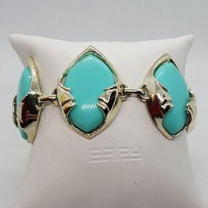 Vintage Blue & Gold Bracelet